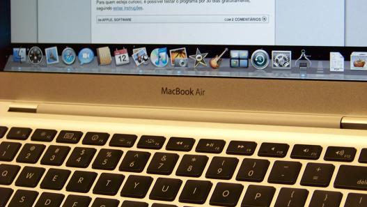 Teclado do Macbook Air: clique para ampliar
